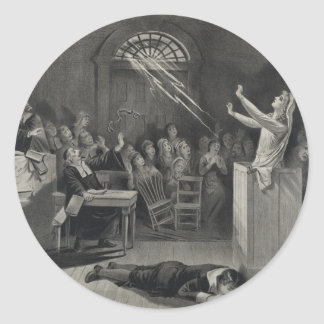 The Salem Witch Trials The Witch Number 1 Classic Round Sticker