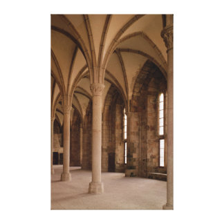 The Salle des Hotes, interior view of the Abbey Canvas Print