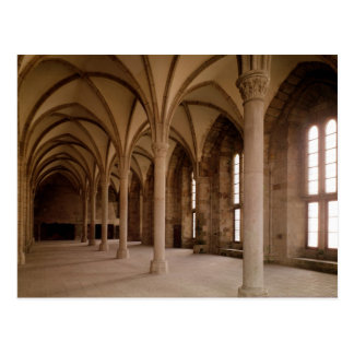 The Salle des Hotes, interior view of the Abbey Postcard