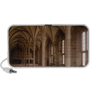 The Salle des Hotes, interior view of the Abbey Notebook Speaker