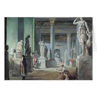 The Salle des Saisons at the Louvre, c. 1802 Greeting Card