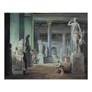 The Salle des Saisons at the Louvre, c. 1802 Poster