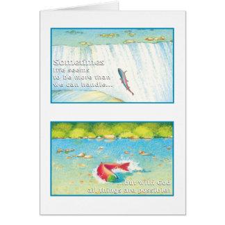 The Salmon Greeting Card Mark 10:27