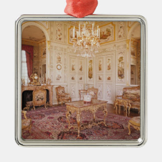 The Salon Chinois, c.1740 Square Metal Christmas Ornament