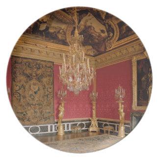 The Salon d'Apollon (Apollo Room) with tapestries Melamine Plate