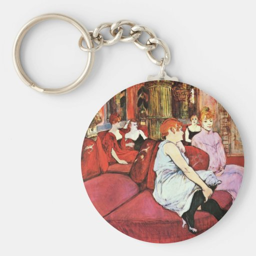 The Salon In The Rue Des Moulins Keychains
