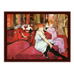 The Salon In The Rue Des Moulins Postcards