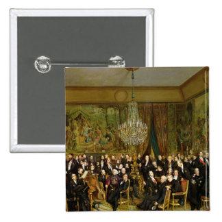 The Salon of Alfred Emilien, Comte de Pinback Button