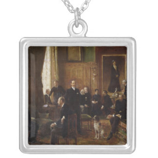 The Salon of the Countess Potocka, 1887 Square Pendant Necklace