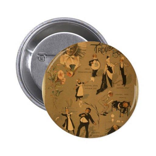 The Salsbury's Troubadours Retro Theater Pinback Button