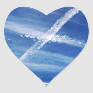 The Saltire in the Sky Heart Sticker