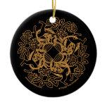 The Samhain Cats Celtic Ornament