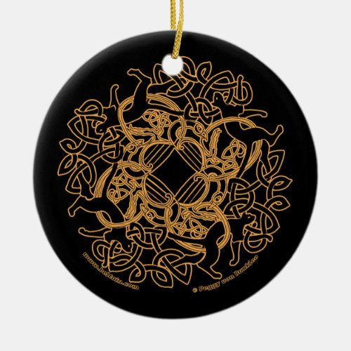 The Samhain Cats Celtic Ornament