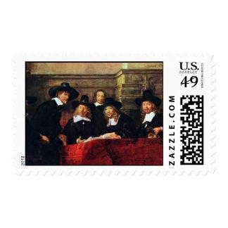 The Sampling Officials. By Rembrandt Van Rijn Postage Stamp