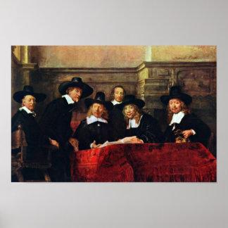 The Sampling Officials. By Rembrandt Van Rijn Poster