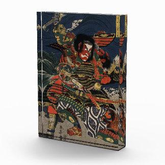 The samurai warriors Tadanori and Noritsune Acrylic Award