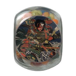 The samurai warriors Tadanori and Noritsune Jelly Belly Candy Jar