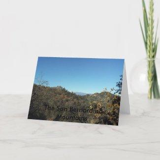 The San Bernardino Mountains Notecards card