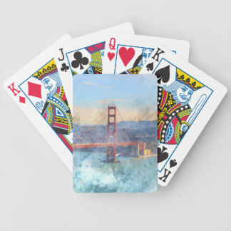 The San Francisco Golden Gate Bridge in California Bicycle Playing Cards