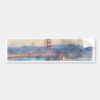 The San Francisco Golden Gate Bridge in California Bumper Sticker
