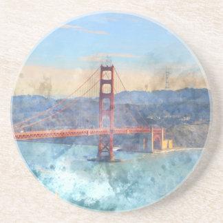 The San Francisco Golden Gate Bridge in California Coaster