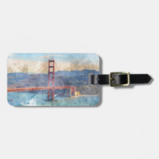 The San Francisco Golden Gate Bridge in California Luggage Tag