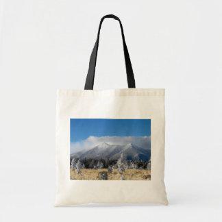 The San Francisco Peaks Of Flagstaff Freshly Coate Canvas Bags