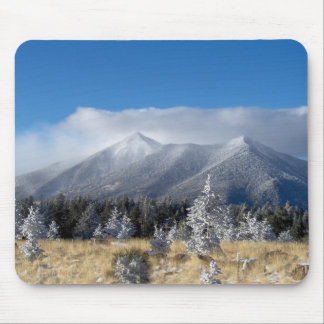 The San Francisco Peaks Of Flagstaff Freshly Coate Mouse Pad