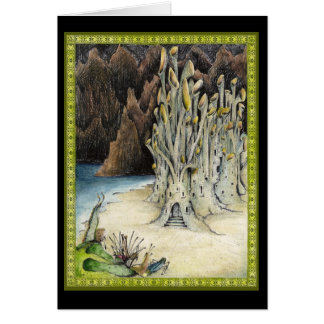 The sand castle greeting card