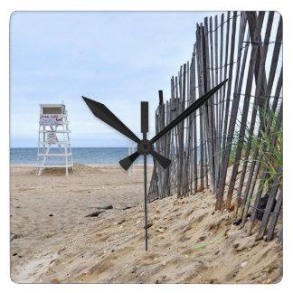 The Sand Dunes of Montauk, Long Island, NY Square Wall Clock