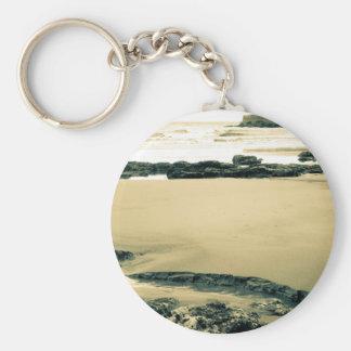 The Sand Edge Basic Round Button Keychain