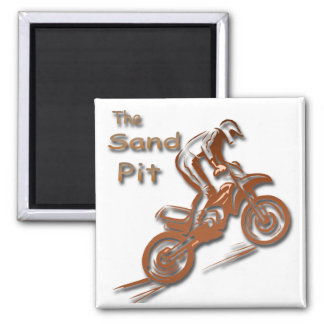 The Sand Pit 2 Inch Square Magnet