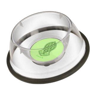 The Sandal Of The Prophet (Henna) (Green) Pet Bowl