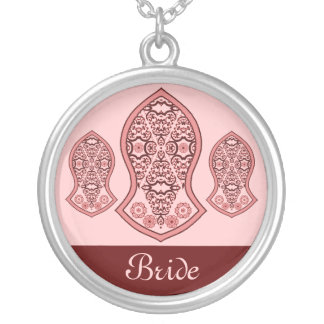 The Sandal Of The Prophet (Henna)(Red) Silver Plated Necklace