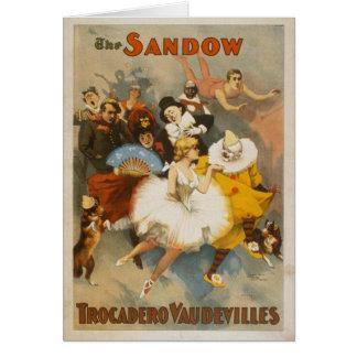 The Sandow Trocadero Vaudevilles 1894 Poster Card