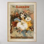 The Sandow Trocadero Vaudevilles  Poster