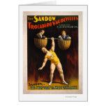 The Sandow Trocadero Vaudevilles Weightlifting Greeting Card