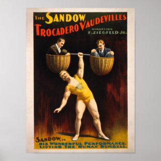 The Sandow Trocadero Vaudevilles Weightlifting Posters