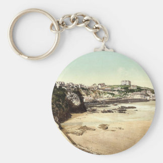 The Sands, Newquay, Cornwall, England classic Phot Key Chain