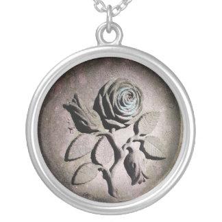 The Sandstone Rose Round Pendant Necklace