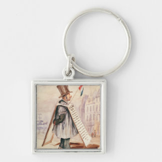 The Sandwich Board Man, Boulevard du Temple, 1839 Keychain