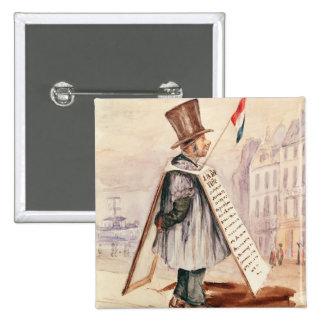 The Sandwich Board Man, Boulevard du Temple, 1839 Pinback Button