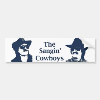 The Sangin' Cowboys Bumper Sticker Car Bumper Sticker