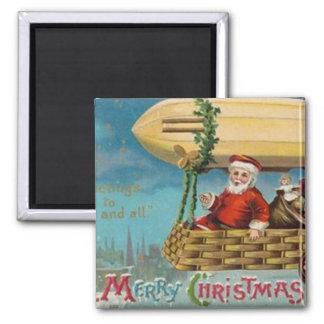 The Santa Blimp 2 Inch Square Magnet