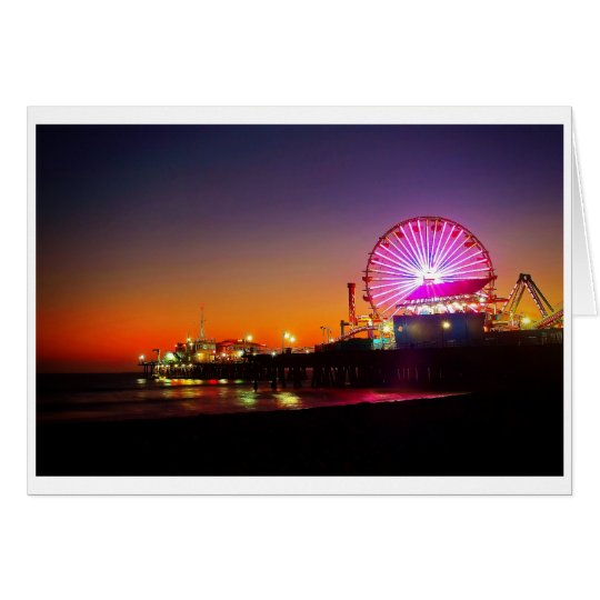 The Santa Monica Pier Card