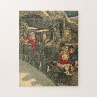 The Santa Train Cross Stitch Jigsaw Puzzle