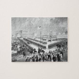 The Santee Sioux Uprising, Mankato, Minnesota, 186 Jigsaw Puzzle
