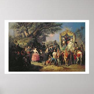 The Santiponce Fair (oil on canvas) Poster