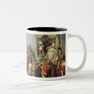 The Santiponce Fair (oil on canvas) Two-Tone Coffee Mug