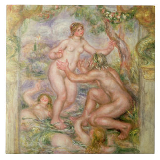 The Saone flowing into the Arms of the Rhone, 1915 Ceramic Tile